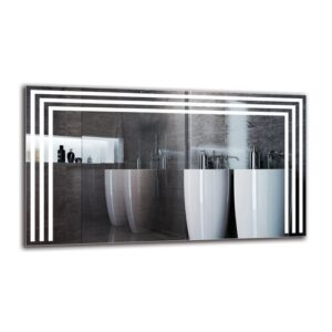 Iman Bathroom Mirror Metro Lane Size: 40cm H x 70cm W