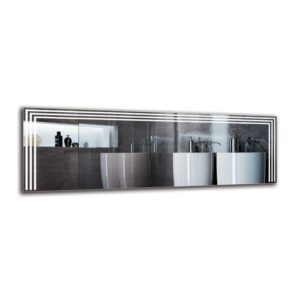Iman Bathroom Mirror Metro Lane Size: 50cm H x 150cm W