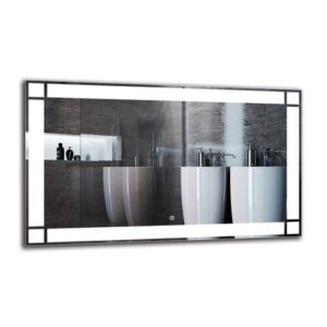 Imasdun Bathroom Mirror Metro Lane Size: 60cm H x 100cm W
