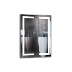Imran Bathroom Mirror Metro Lane Size: 70cm H x 50cm W