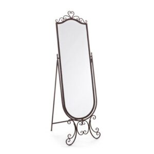 Ivor Full Length Mirror Lily Manor Finish: Brown