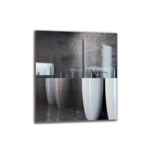 Janig Bathroom Mirror Metro Lane Size: 90cm H x 80cm W