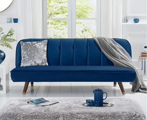 Julianna Sofa Bed in Blue Velvet