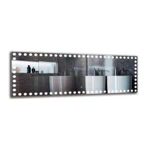 Kalusd Bathroom Mirror Metro Lane Size: 50cm H x 140cm W