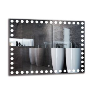 Kalusd Bathroom Mirror Metro Lane Size: 60cm H x 80cm W