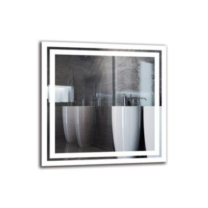 Kamalu Bathroom Mirror Metro Lane Size: 40cm H x 40cm W
