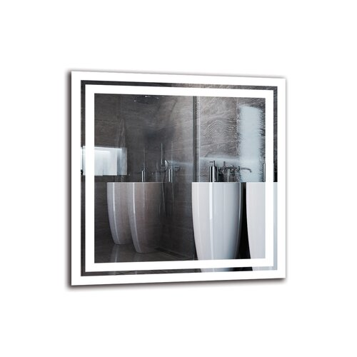 Kamalu Bathroom Mirror Metro Lane Size: 50cm H x 50cm W