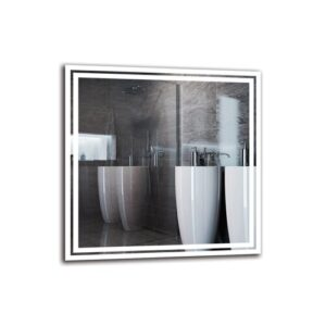 Kamalu Bathroom Mirror Metro Lane Size: 80cm H x 80cm W