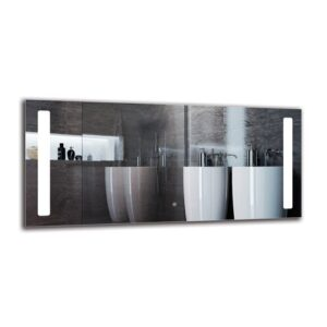Kants Bathroom Mirror Metro Lane Size: 60cm H x 130cm W