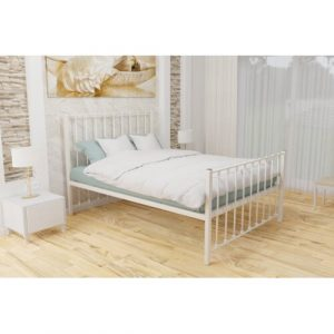 Karmakar Bed Frame Rosalind Wheeler Colour: Ivory, Size: Single (3')