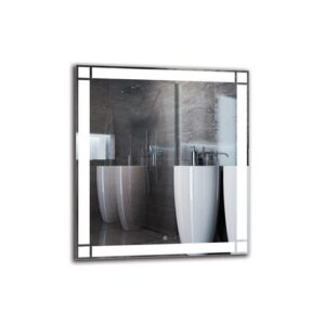 Kasbar Bathroom Mirror Metro Lane Size: 90cm H x 80cm W