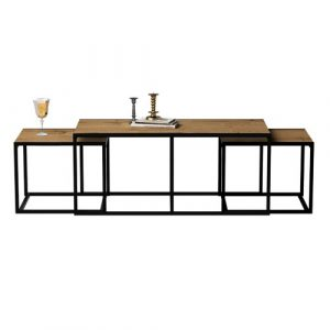 Kennelly 3 Piece Coffee Table Set Williston Forge