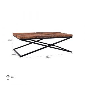 Kensington Coffee Table Richmond Interiors Colour (Table Base): Black