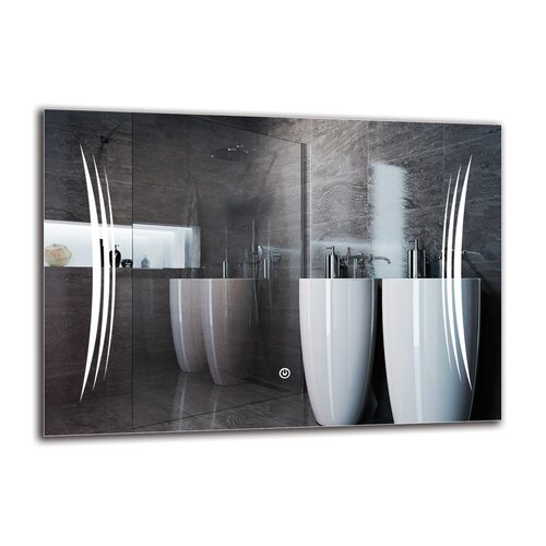 Knel Bathroom Mirror Metro Lane Size: 50cm H x 70cm W