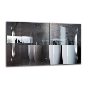 Knel Bathroom Mirror Metro Lane Size: 60cm H x 100cm W