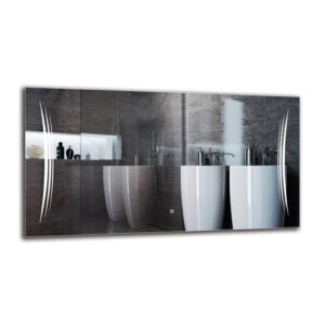 Knel Bathroom Mirror Metro Lane Size: 60cm H x 110cm W
