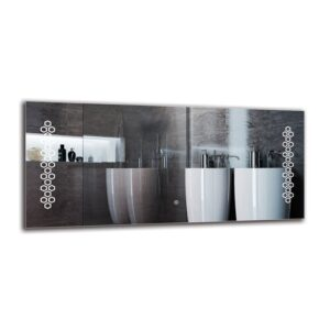 Krikor Bathroom Mirror Metro Lane Size: 50cm H x 110cm W