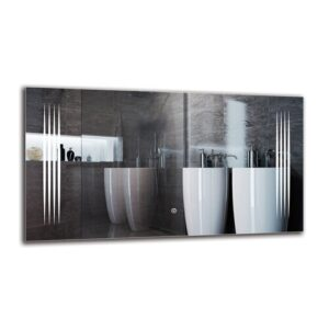 Krkur Bathroom Mirror Metro Lane Size: 50cm H x 90cm W