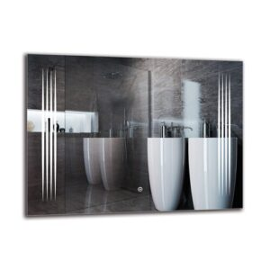 Krkur Bathroom Mirror Metro Lane Size: 60cm H x 80cm W