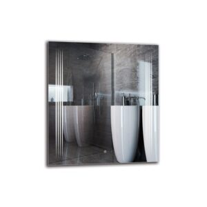 Kurken Bathroom Mirror Metro Lane Size: 90cm H x 80cm W