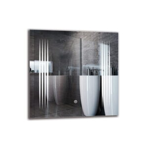 Kusan Bathroom Mirror Metro Lane Size: 50cm H x 50cm W