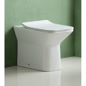 Lahl Back to Wall Toilets with Button Flush and Soft Close Seat Belfry Bathroom