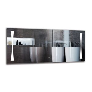 Lampron Bathroom Mirror Metro Lane Size: 60cm H x 130cm W