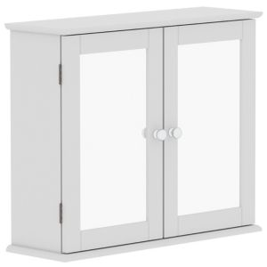Lassic Rebecca Jones Matt White Mirrored Double door Wall Cabinet (W)570mm (H)470mm