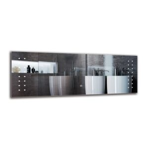 Loris Bathroom Mirror Metro Lane Size: 40cm H x 110cm W