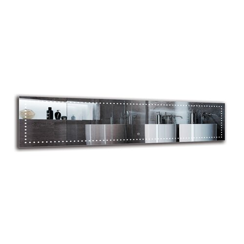 Madrigal Bathroom Mirror Metro Lane Size: 40cm H x 160cm W