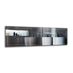 Madrigal Bathroom Mirror Metro Lane Size: 50cm H x 150cm W