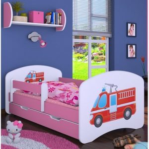 Manus Cot Bed / Toddler (70 x 140cm) Bed Frame with Drawer Isabelle & Max Colour (Bed Frame): Pink