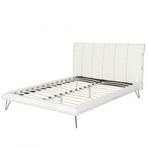Margie Upholstered Bed Frame Brayden Studio Colour: White, Size: Super King (6')