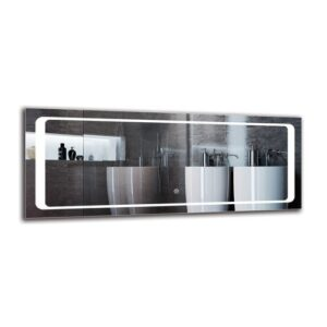 Mayis Bathroom Mirror Metro Lane Size: 40cm H x 100cm W