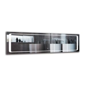 Mayis Bathroom Mirror Metro Lane Size: 40cm H x 130cm W