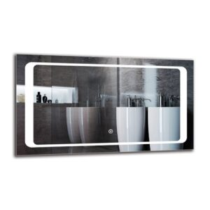 Mayis Bathroom Mirror Metro Lane Size: 40cm H x 70cm W