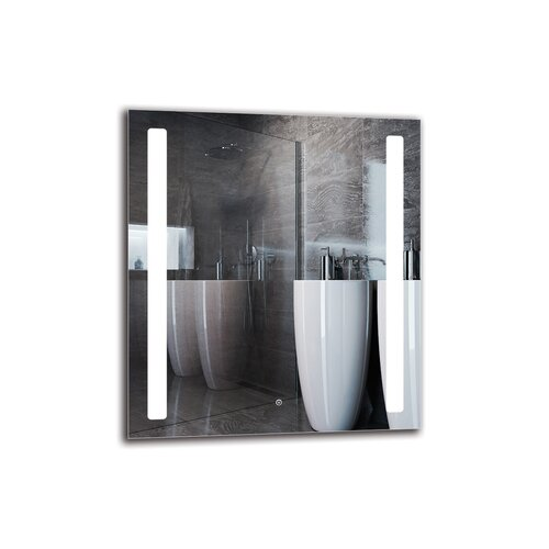 Maylin Bathroom Mirror Metro Lane Size: 90cm H x 80cm W