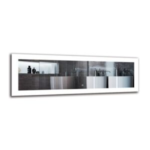 Mekhag Bathroom Mirror Metro Lane Size: 40cm H x 120cm W