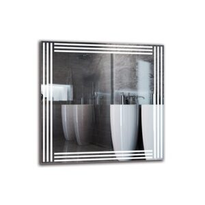 Melifonwu Bathroom Mirror Metro Lane Size: 70cm H x 70cm W