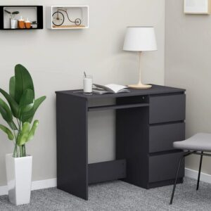 Mercury Row Desk High Gloss Black 90X45x76 Cm Chipboard Mercury Row
