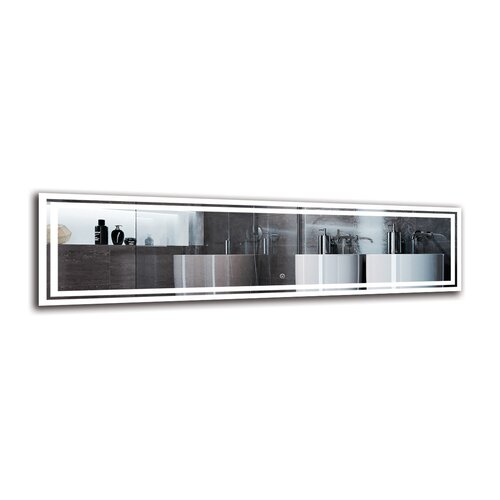 Mher Bathroom Mirror Metro Lane Size: 40cm H x 150cm W