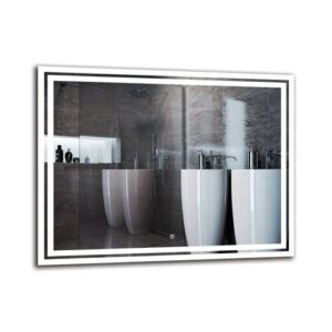 Mher Bathroom Mirror Metro Lane Size: 70cm H x 90cm W