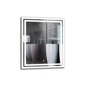 Mihran Bathroom Mirror Metro Lane Size: 60cm H x 50cm W