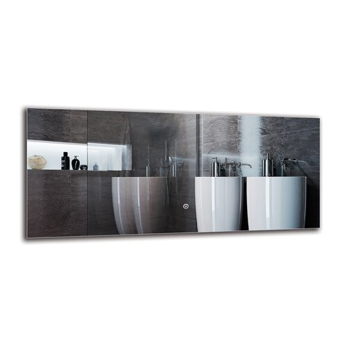 Mleh Bathroom Mirror Metro Lane Size: 40cm H x 90cm W