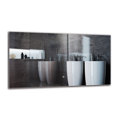 Mleh Bathroom Mirror Metro Lane Size: 50cm H x 90cm W