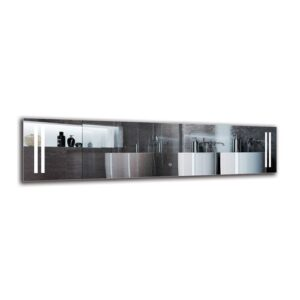 Nar Bathroom Mirror Metro Lane Size: 40cm H x 160cm W