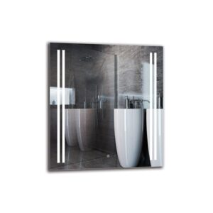 Nareg Bathroom Mirror Metro Lane Size: 90cm H x 80cm W