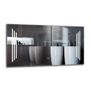 Nartuni Bathroom Mirror Metro Lane Size: 50cm H x 90cm W