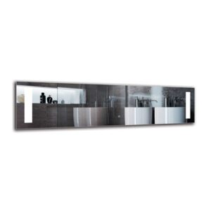 Nerseh Bathroom Mirror Metro Lane Size: 40cm H x 150cm W