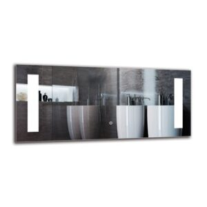 Nerseh Bathroom Mirror Metro Lane Size: 40cm H x 90cm W